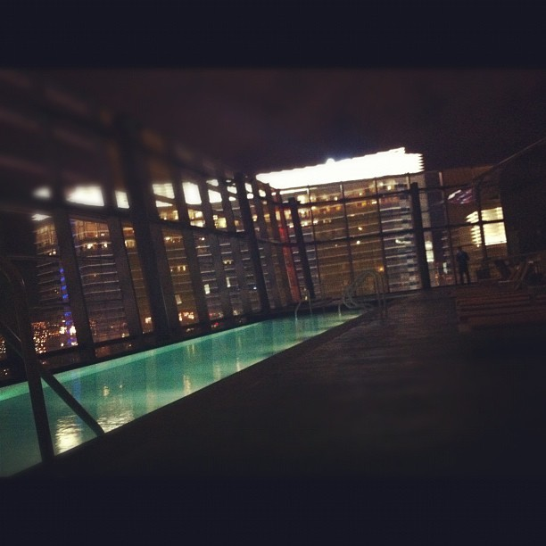 Late night pool run (Taken with Instagram at Veer Towers)