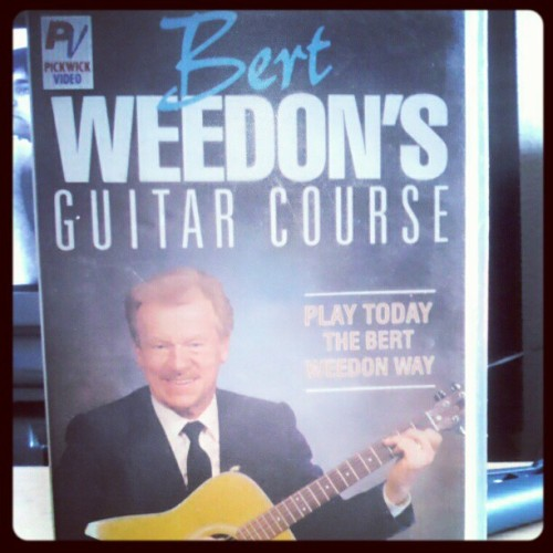 #bert #weedon #bertweedon #guitar #course #learn #old #school #dude #legend #epic #etc #rip #tribute #awesome #man #he's #got #the #whole #world #in #his #hands (Taken with instagram)