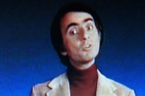 Carl Sagan looking very astute! Ben and I enjoyed watching Cosmos! #carlsagan