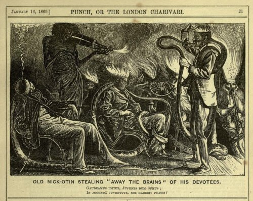 absurdonio:  Satiric illustration by George du Maurier. Punch, or the London Charivari, January 16, 1869. via Yesterday's Papers
