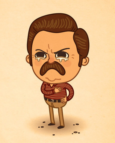 "Ronald Ulysses ""Ron"" Swanson, personaje de Parks and Recreation. Una pieza de la colección ""Just Like Us"", de Mike Mitchell Para ver todos los post de esta serie, pulsa aquí"