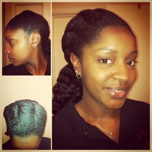 French twist with a side ponytail…simplicity. #naturalhair #SalonDay (Taken with instagram)