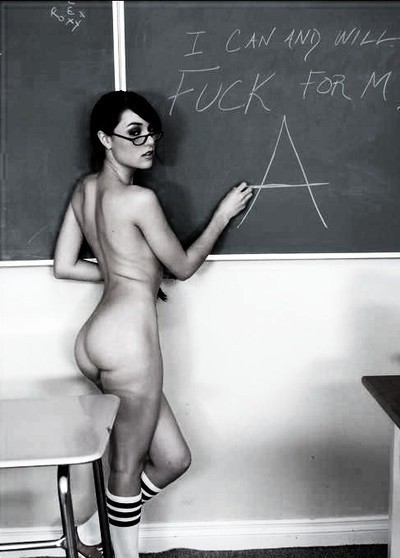 daddyssweetslave:  daddyspalepuppy:  Anything the teacher asks, Right?   Anything!