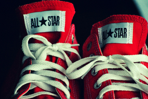 tanyamakeitnasty:  Mom's buying me some of these <3  Red chucks