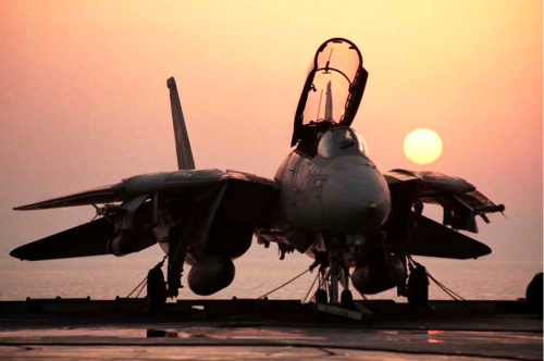 jets-n-stuff:  F-14 Sunset…  F-14 Sexy…