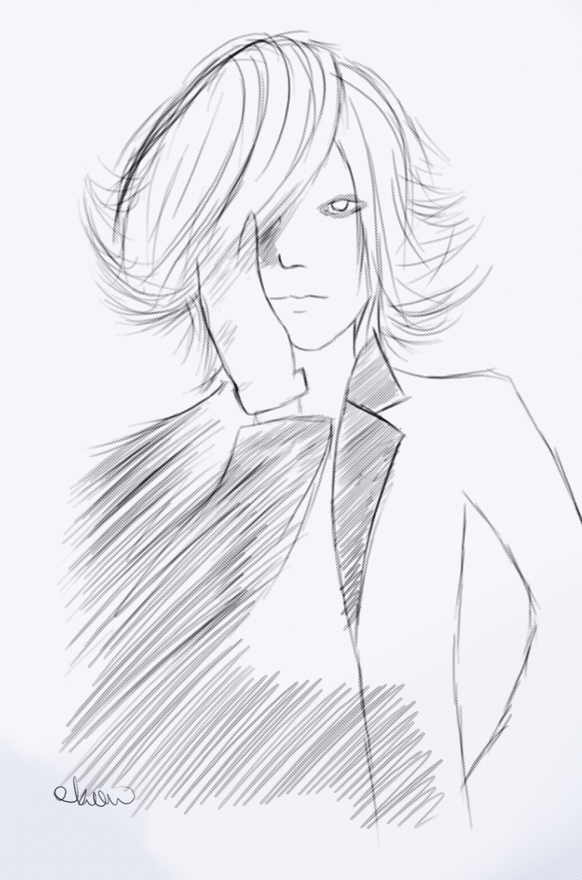 akanoification:  yay~ Ruki sketch ^^