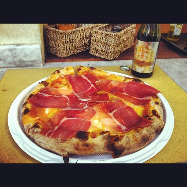 prosciutto and buffalo mozzarella (Taken with instagram)