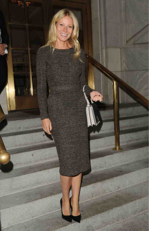 officialcjdt:  Gwyneth Paltrow wearing AW12 pre collection Burberry in New York last night!