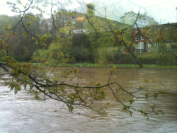 The River Wear is rising very high!