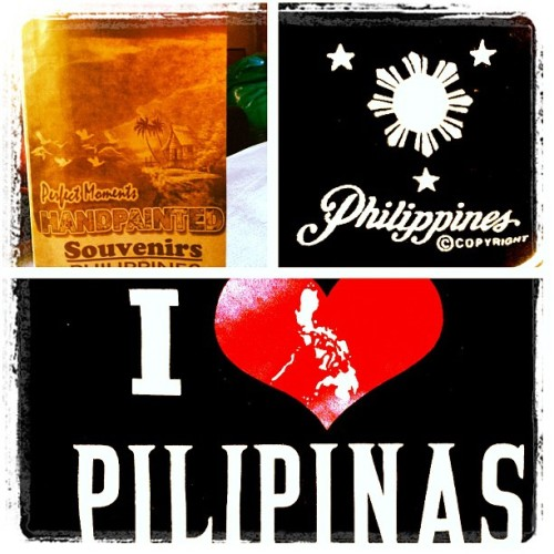 Thanks Christine for the #souvenier #gift #pasalubong #friends #pinoy #pinay #philippines #tshirt #apparel #menswear #tourist #pride #collage #picstitch #filipino #filipina  (Wurde mit instagram aufgenommen)