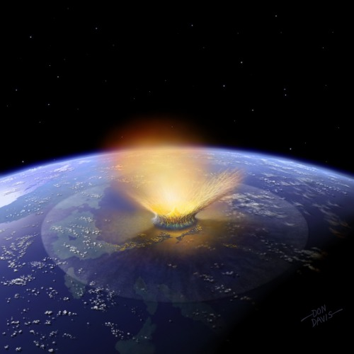 Asteroids Battered Young Earth Longer Than Thought A giant ancient barrage of asteroids striking Earth may have lasted much longer than previously thought, with some collisions perhaps even rivaling those that created the largest craters on the moon, researchers say. Scientists think untold numbers of asteroids and comets pummeled Earth, the moon and the inner planets during an era known as the Late Heavy Bombardment about 4.1 billion to 3.8 billion years ago. Investigators continue to debate the precise nature of this epoch in terms of what happened and how long it lasted. To learn more about the Late Heavy Bombardment, scientists would like to analyze the most obvious evidence cosmic impacts leave behind, their craters. However, while such craters are preserved well in the vacuum of the moon environment, they disappear quickly on Earth due to erosion and tectonic activity. Instead, researchers analyzed other evidence of asteroid impacts — millimeter- to centimeter-thick layers of rock droplets known as spherules.  :O! Lol the picture reminds me of Earthbound