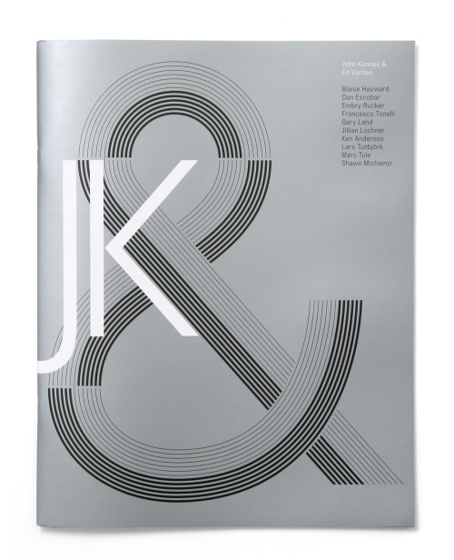 Image of the Day: We're suckers for a nice ampersand. A magazine for John Kenney & (a photo agency). Design by the always awesome Triboro Design. (the website was also designed by Triboro, so technically this is double-dipping).