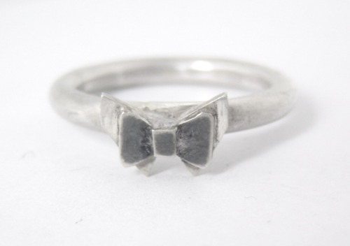 Doctor Who Bowties are Cool silver ring! Handmade by me and for sale in my Etsy Shop here along with other Who jewellery goodies! Please check them out!  submitted by Alice