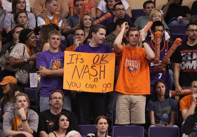 nbaoffseason:  Look at these Steve Nash fans.  Photo by Christian Petersen/Getty Images