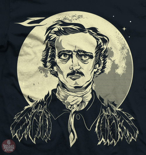 I made this Edgar Allan Poe portrait for a t shirt, now available here at 6 Dollar Shirts!