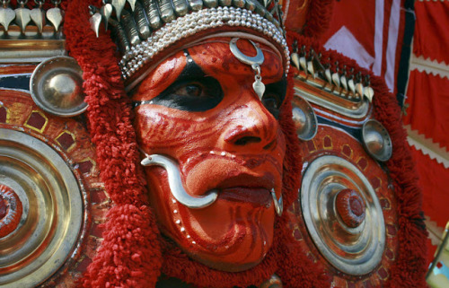 India - Theyyam dancer           India has absolutly amazing colourful body art beyond henna!