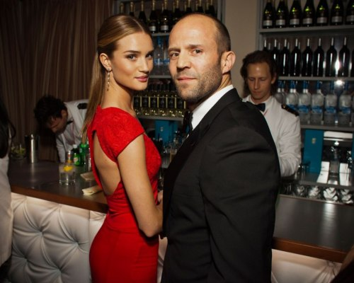 Rosie & Jason Statham at the 2012 Vanity Fair Oscars Party.