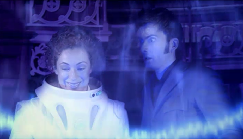 "riversongfeels:  Part forty four of fifty five of ""River Song From Every Angle"" in Silence in The Library/Forest of The Dead"