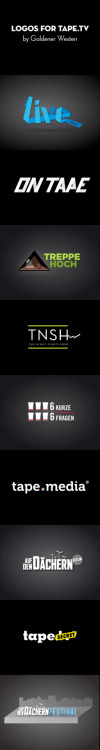 Logos for tape.tv by Goldener Westen