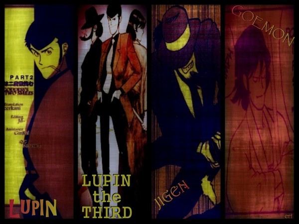 ☺ have some photomanipped Lupin the Third  manga panels~