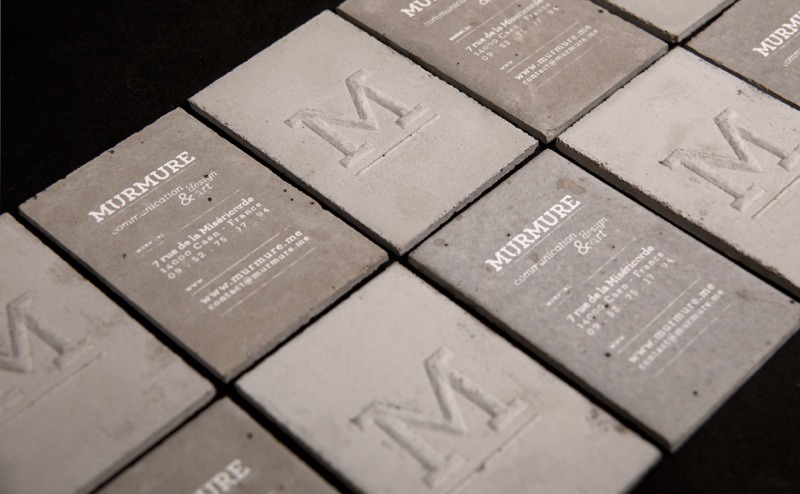Concrete business cards by Murmure (via The Fox Is Black). I would buy these, if they'd let me!