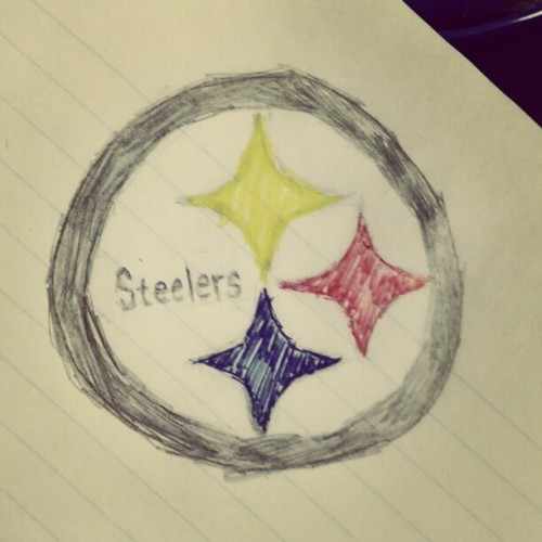 justinpark23:  Good thing I came to class today. #steelers #drawings (Taken with instagram)
