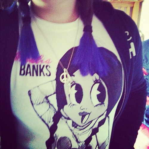 One of my fans rocking her purple mermaid hair and Azealia Banks tee! (Taken with instagram)