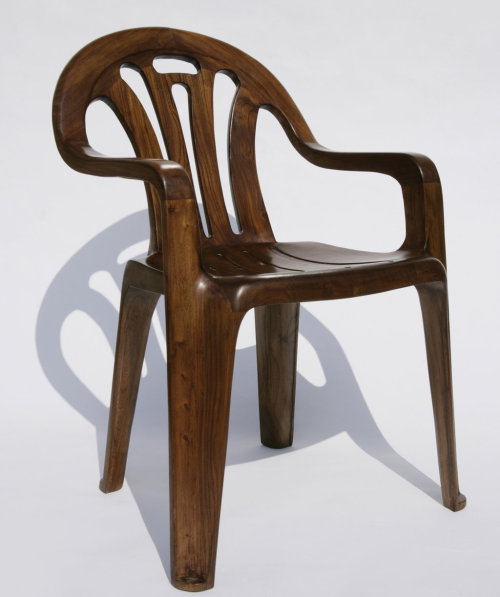 plastic wooden chair via @themoment