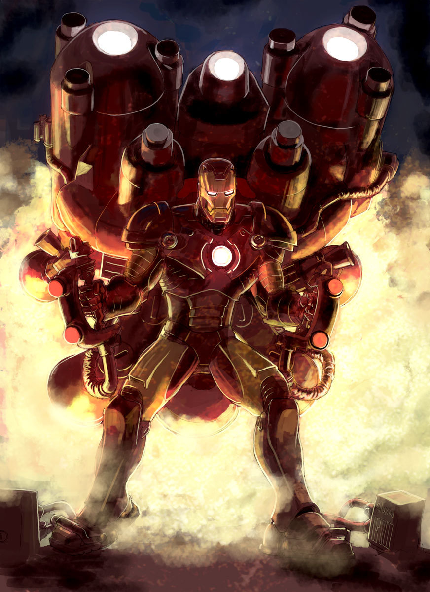 Trans-Atmospheric Iron Man by Chuk Wojtkiewicz / Blog