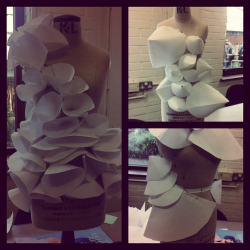 hana-rutledge:  First year university. Creating shape and silhouette.