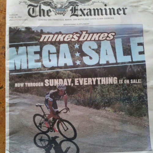 look mom!  awefull:  Rainier, on the cover of the examiner… Again. (Taken with instagram)