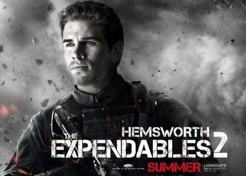 Does Gale Hawthorne have what it takes to stand toe-to-toe with Arnie & Sly? Liam Hemsworth's 'Expendables 2' poster debut
