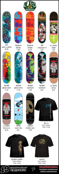 Alien Workshop Skateboards and T-shirts now in stock!!