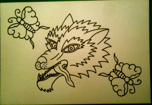 alltheseurlsarefuckingtaken suggested a wolf head. Thanks for answering :)