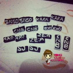 """Yong Clay Accessories"" Sample Earrings :) 50-65php  Just click the photo if you want to order. Gomawo! :) <3"