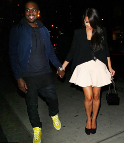 wherethefwereyou:  Kanye & Kim headed back to his place in SoHo!