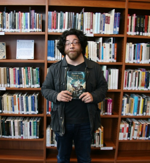We had author Saladin Ahmed in the Arab American National Museum today to record a podcast interview! Keep an eye out for it! Saladin is the author of the new fantasy novel, Throne of the Crescent Moon. Available now in the AANM Library.