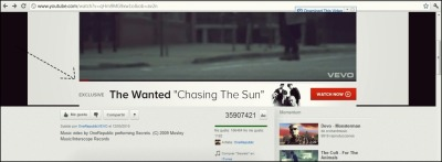 "finally youtube promoted to the wanted ""chasing the sun"" wiii (I was listening to ""OneRepublic _ Secrets"")"