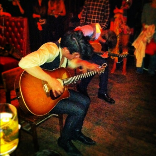 Last night we checked out the insanely talented flamenco duo, City of the Sun. BLOWN AWAY. There could not be anything better, than to see young musicians playing tribute AND doing justice to a beloved genre of the past. The gentlemen have a residency at Hotel Chantelle on the LES, every Wednesday. Can't wait to see more from these guys.