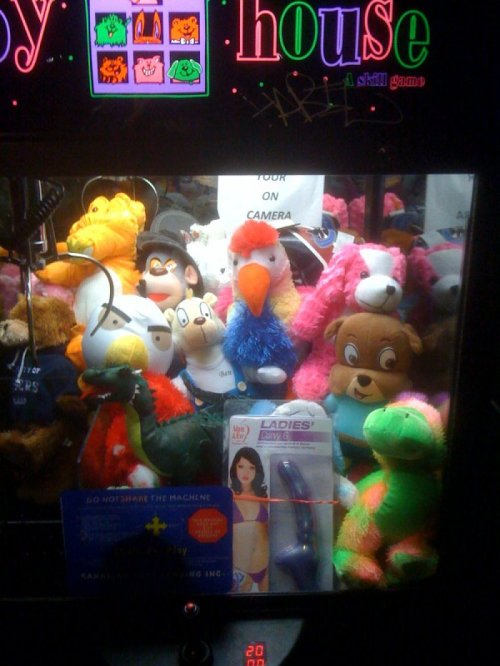 Dildo in Claw Machine The only toy in there that's actually any fun.