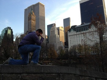 Tebowing from Central Park!