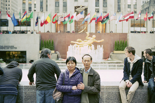 the parents // rockefeller center - nyc, ny // leica m4 what more can i say? back in ny after a while.