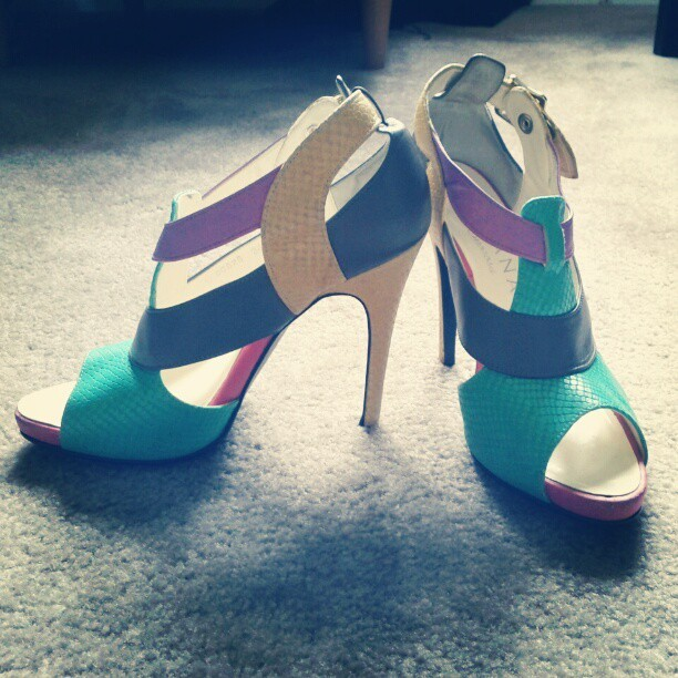 Perfect spring shoes #shoes #heals #spring #fashion #fashionista #pastel #color  (Taken with instagram)