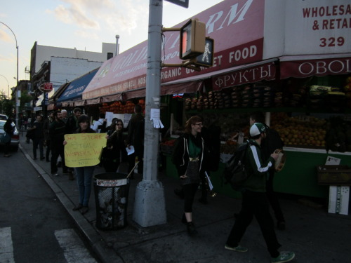 Workers at Golden Farm in Brooklyn walk the Picket Line!!!