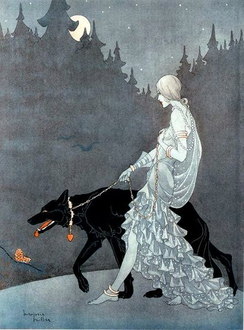 itshazel-belle:decapitated-unicorn:   'Queen Of the Night' by Marjorie Miller 1931  Now this is gorgeous…