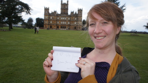Cousin Katherine at Highclere Castle!
