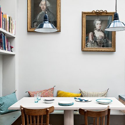 Source: Nero Chronicles Great eating nook. Eclectic & contemporary.