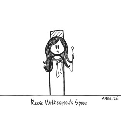 Reese Witherspoon's Spoon (aka Reese 'Wit-her-spoon') (drawn as Elle Woods from Legally Blonde) - per Georgia's request
