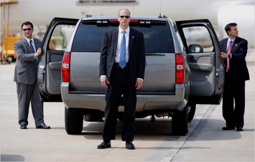 "How important are the vices of off-duty Secret Service agents? ""Surely the unspoken rule till now has been that traveling Secret Service agents may go to prostitutes provided they receive, um, secret service. Try as I may to be shocked or angered by this variation on ""don't ask, don't tell,"" I cannot. A gay person employed by the government should not be forced to hide his or her sexual orientation. But neither should a john employed by the government be encouraged to over-share with his or her superiors. They'd rather not know. I'd rather not know. Unless of course it gets in the way of getting in the way of an assassin's bullet."" - Timothy Noah, Secret Service Sex: The TV Show Photo courtesy of Farraguter"