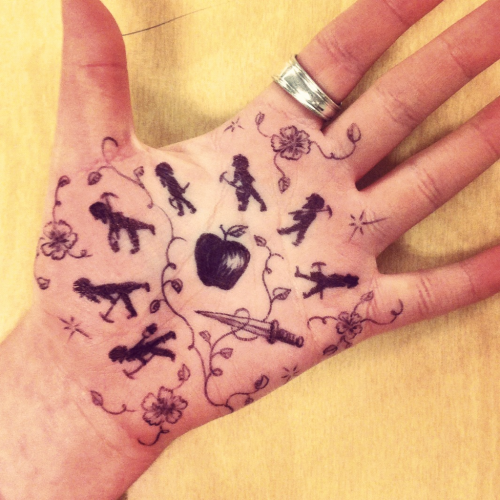 Hand Doodles: Snow White and the Seven Dwarves Edition